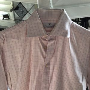 Beautiful pink/white blue dress shirt, dry cleaned